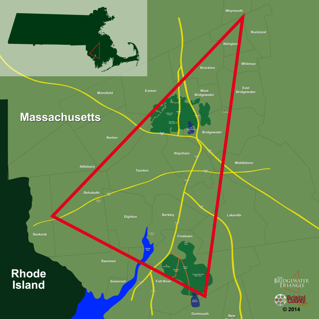 Map of the Bridgewater Triangle
